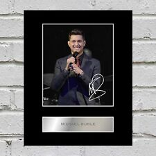 Michael Buble Signed Mounted Photo Display