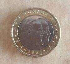 Magnifique Piece De 1 Euro  Monaco 2001 Etat Comme Neuf