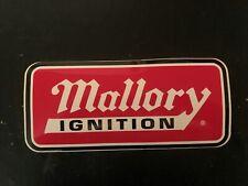 Mallory Ignition decal sticker nascar arca msd crane cams race car imca nhra