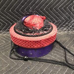 Red Hat Society Decorative Round Storage Box