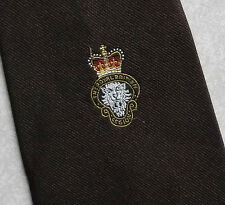 ROYAL BRITISH LEGION DARK BROWN CLUB ASSOCIATION TIE 1970s 1980s VINTAGE RETRO