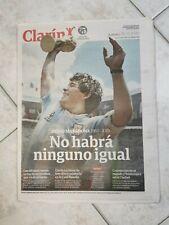 RARO - Giornale CLARIN (Argentina) DIEGO ARMANDO MARADONA morte 26 novembre 2020