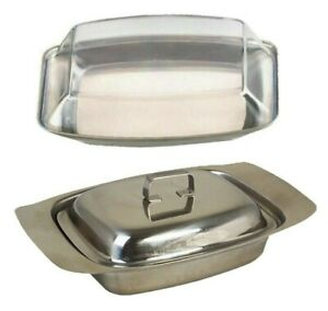 Butter Dish Stainless Steel | Butter Dish With Lid | Kitchen Storage Container.