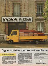 Publicité Advertising   ///    MERCEDES BENZ 409 D  utilitaire léger