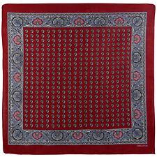 NEUF pour hommes Garçon Coton style vintage décoratif rouge bandana cachemire