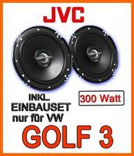 VW Golf 3 III FRONT - 300WATT JVC LAUTSPRECHER BOXEN EINBAUSET TÜR VORNE NEUWARE