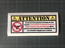 Sticker autocollant humour attention culotte ducati yamaha honda ktm 600 750 900