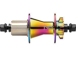 NEW NS Bikes Rotary Rear Cassette Hub, Oil Slick, 32h, 10x135mm, Shimano freehub