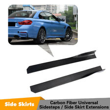 Carbon Fiber Side Skirt For Volkswagon Golf Jetta Audi A3 A5 BMW M3 M4 Universal