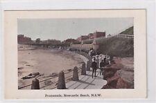 VINTAGE POSTCARD PROMENADE NEWCASTLE BEACH NSW  1900s