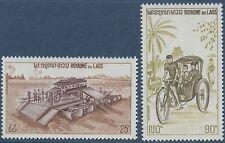 LAOS N°266/267** Transports (voiture, vélo) TB 1974, Car, bike MNH