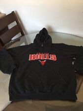 Chicago Bulls Black Hoodie Sweatshirt Stitched Large Good Condition