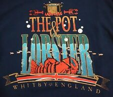 Vintage The Pot & Lobster Whitby England T Shirt Mens L Fish Food Hipster Tee