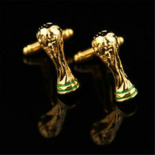 Gold World Cup Cufflinks Football Cuff Men Jewelry Wedding Party Birthday Gift