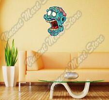"""Zombie Head Brain Open Mouth Gift Idea Wall Sticker Room Interior Decor 17""""X25"""""""