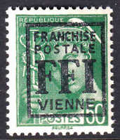 FRANCE 365 LOCAL POITIERS LIBERATION OVERPRINT OG NH U/M F/VF