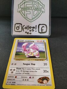 POKÉMON GYM HEROES UNLIMITED BROCK'S LICKITUNG UNCOMMON 41/132 NM