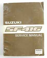 Suzuki SF416 factory workshop manual 1989