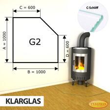 Kamin Glasbodenplatte Funkenschutz Kaminplatte Glas Ofen Platte Bodenplatte - G2