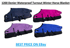 1200 Denier Waterproof and Breathable Turnout Winter Horse Blanket