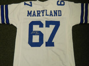 Russell Maryland Signed Cowboys Jersey (JSA COA) 3 Time Super Bowl Champion