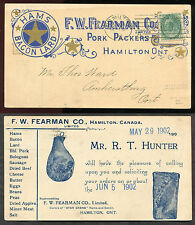 *p330 - HAMILTON 1902 Fearman Pork Packer ILLUSTRATED Advertising Postcard
