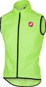 Castelli Squadra Men's Cycling Vest Yellow Fluo Large
