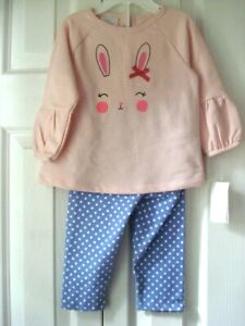Girls Outfit Bunny Sizes 3-6 Mths, 6-9 Mths & 12 Mths Little Wonders