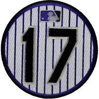 2014 MLB Colorado Rockies Todd Helton 17 Retirement Jersey Sleeve Patch OFFICIAL
