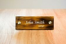 Custom Desk Name Plate Rustic, Custom Office Name Sign, Personalized with your n