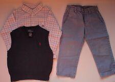 Lote niño: chaleco, pantalón y camisa. Talla 18-24 meses. Mayoral, Ralph Lauren