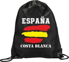 BACKPACK BAG COSTA BLANCA SPAIN GYM HANDBAG FLAG SPORT