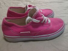 Girls AIRWALK Canvas Pink Lace Up Low Top Tennis Shoes Size 3