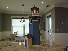 """Real Good Toys New England LIGHTHOUSE Kit Completed 45""""x 24"""" w Beacon Light"""