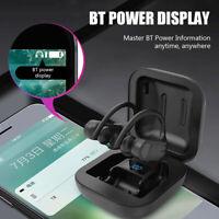 B1 TWS Bluetooth Earphone Wireless Earbuds Earhook with Display Charge Box Mic