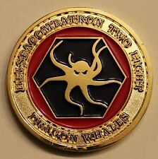 Helicopter Sea Combat Sq HELSEACOMBATRON 28 Dragon Whales Navy Challenge Coin