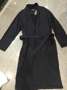 Men's Navy Dressing Gown Robe BNWT Size Small