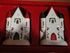 By Lenox/ salt/ and pepper/ Holiday/ Nib