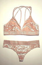 NEW*Victoria's Secret PINK* Velvet Bra~Bralette/Thong Set Size Large
