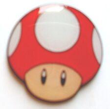 Super Mario Red Mushroom Metal Pin Badge