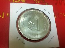 $1 Malaysia Coins 1981 (GEF) With Original Luster