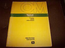 John Deere 4030 Tractor Operator's Manual (Spanish Printing) Manual del Operador