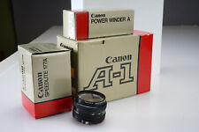 Vintage Canon A-1 Body 50mm FD Lens Collectors Combo w/Box + Power Winder A 177a