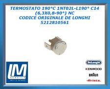 TERMOSTATO 190°C 1NT02L-L190° C14 (6,3X0,8-90°) NC 5212810561 DE LONGHI ORIGINAL