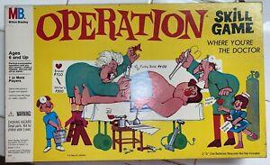 Milton Bradley 4545 Operation Game (1965 Edition). Complete Set; Nose Lights Up