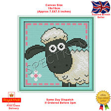 Shaun the Sheep Counted Cross Stitch Kit CBBC Aardman Wallace and Gromit
