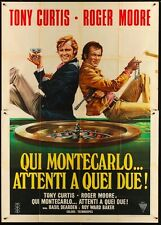 PERSUADERS MISSION MONTE CARLO Italian 4F movie poster ROGER MOORE TONY CURTIS