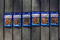 Dynabait lug/rag worms 6x  (dehydrated fishing tackle, bait, 2 years shelf life)