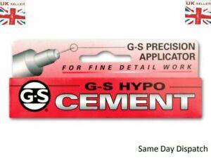 G-S HYPO CEMENT GLUE 9ML Jewellery & Craft Glue Plastic Repairs  Clear DIY GS