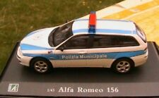 ALFA ROMEO 156 POLIZIA MUNICIPALE OLIEX ITALIA 1/43 NEW POLICE BREAK SW CARARAMA